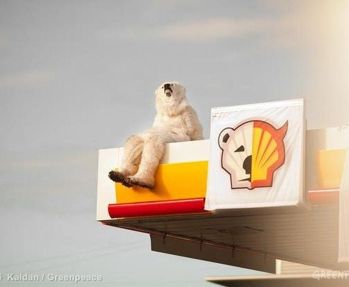 Shell Petrol Station Protest in Denmark